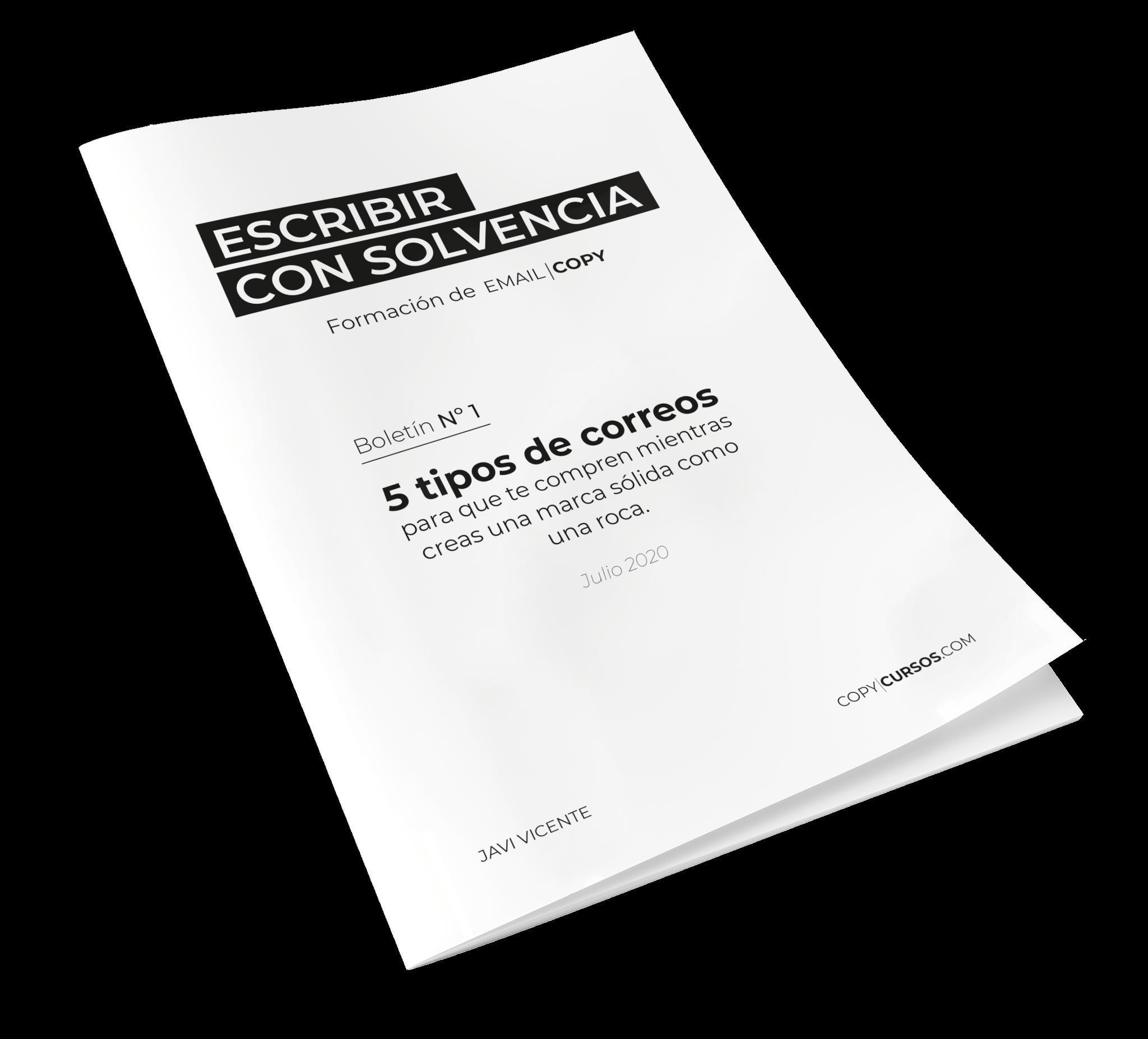 Boletín de ESCRIBIR CON SOLVENCIA